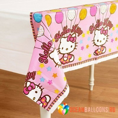 HELLO KITTY СКАТЕРТЬ 1,4x2,6 М