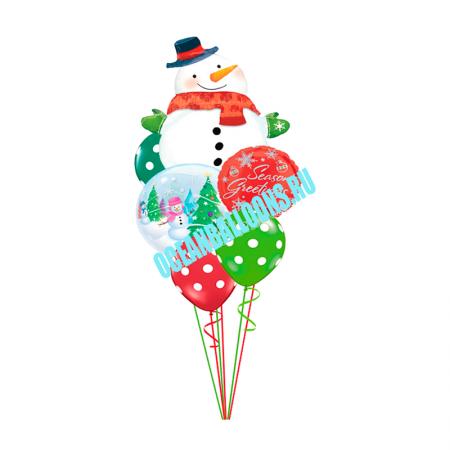 Веселый Снеговик. Более 50 наклеек!