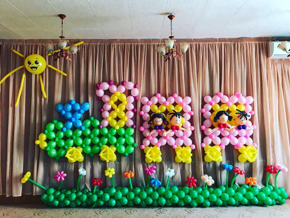 Украшение стены на праздник