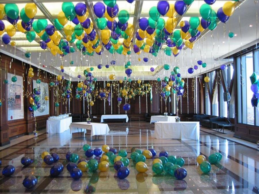 В картинках оформление шарами зал