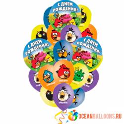 Букет «Angry Birds» из 20 воздушных шаров Angry Birds