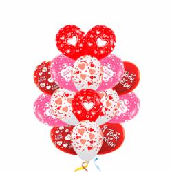 Букет для любимой из 30 воздушных шаров на 8 марта
