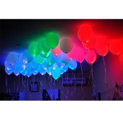 Облако из светящихся гелиевых шаров