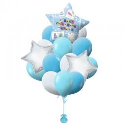 Букет «Звёздная ночь» из 23 воздушных шаров