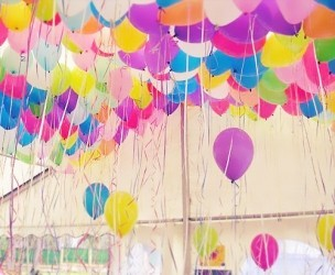 Шары под потолок «Ассорти 100» гелиевые воздушные шары
