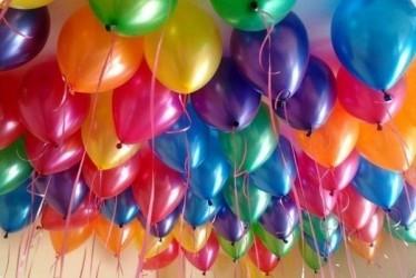 Шары под потолок «Ассорти 50» гелевые воздушные шары