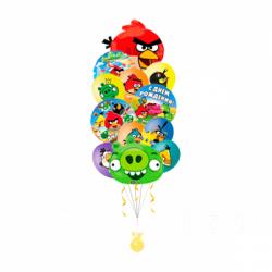 Композиция из шариков «Сердитые птички»