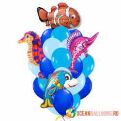 Облако из шариков «Мир океана»