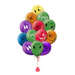 Букет на день рождения «Облако смайликов»
