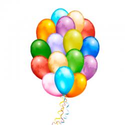 Облако из 50 воздушных шаров