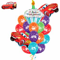 Букет шаров на День рождения «Тачки»