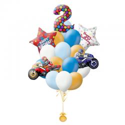 Букет шаров на День рождения «Поздравляем байкера»