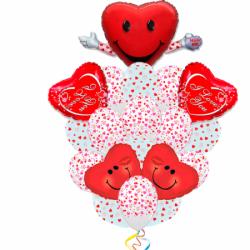 Букет облако сердец из 20 шаров на 14 февраля