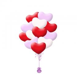 Букет из шаров «Каскад сердец» на 14 февраля