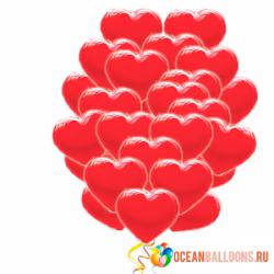 Облако «Сердец»  шары сердечки 100 шт.