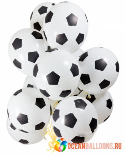Футбольному болельщику букет из 50 шаров Мячи футбольные.