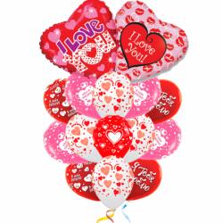 Букет из шариков «Сердца» на 14 февраля