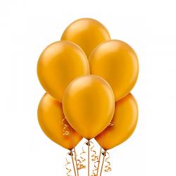 Воздушный шарик Золото яркое, металлик.