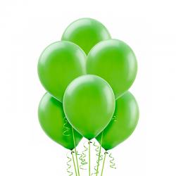 Воздушный шарик Лайм, металлик.