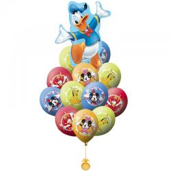 Букет «Дональд и его друзья» из 21 гелиевых шаров