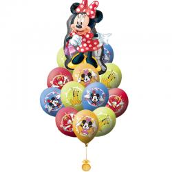 Букет «Минни и её друзья» из 21 гелиевых шаров