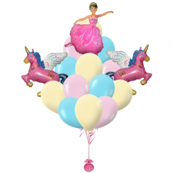 Букет «Принцесса» из 23 шаров