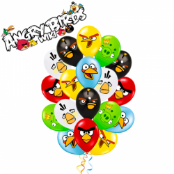 Гелиевые шары Злые Птички