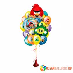 Букет «Сердитые птицы 2» из 23 шаров
