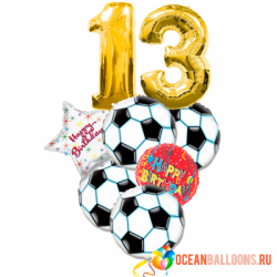 Букет из фольгированных шаров «С Днем Рождения, футболист!»