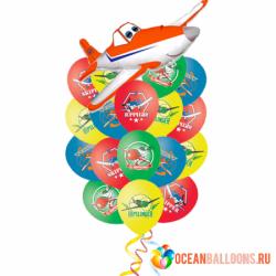 Букет «Невероятные Самолеты» из 26 шаров