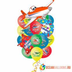 Букет «Невероятные Самолеты 2» из 18 шаров