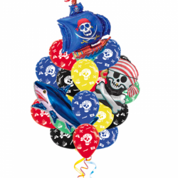 Букет «Пиратская вечеринка 2» из 18 шаров