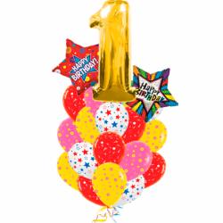 Букет «Радужный праздник» из 23 шаров