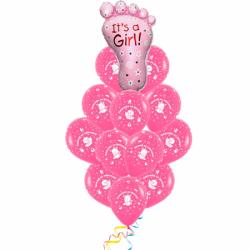 Букет шаров «Спасибо за дочку!»