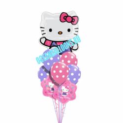 Букет шар «С днем рождения от Hello Kitty»
