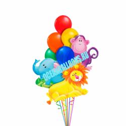 Невероятные Джунгли из 23 воздушных шаров