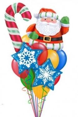 Букет «Поздравление от Санты» из 29 шаров