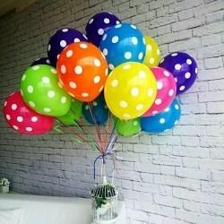 Воздушные шары для детей в горошек