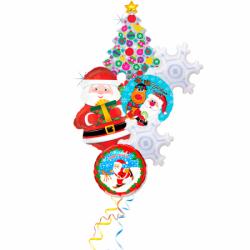 Букет «Санта поздравляет Всех С Новым Годом!»