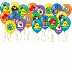 Разноцветные шарики под потолок «Angry Birds»