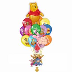 Букет «Винни Пух и Пяточек» из 23 шаров