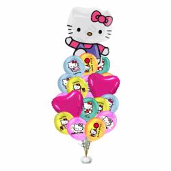 Воздушные шары на день рождения «Красавица Hello Kitty»