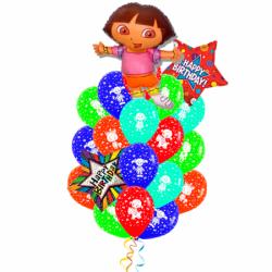 «Приключение Даши» букет из 18 воздушных шариков