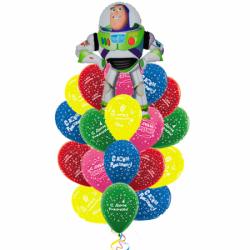Букет «Поздравление от База Лайтера» из 20 шаров