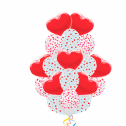Букет для любимой «Теплота чувств» из 70 воздушных шаров
