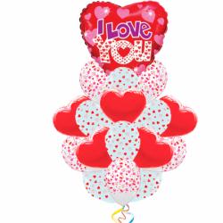 Признание Любимой из 21 воздушных шаров и 1 фигуры в виде сердца
