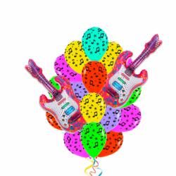 Букет «Музыкальный любитель» из 17 шаров