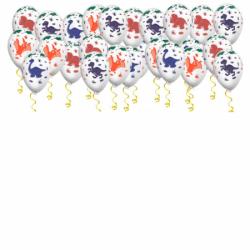 Воздушные шары под потолок «Динозавры»