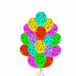 Воздушные шары «Разноцветная нота»