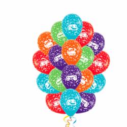 «Весёлые автомобили» разноцветные воздушные шары под потолок